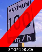 Chris Klimek of Oshawa of Stop100.ca : 100 km/h Speed Limit is Dangerous – January 8, 2013