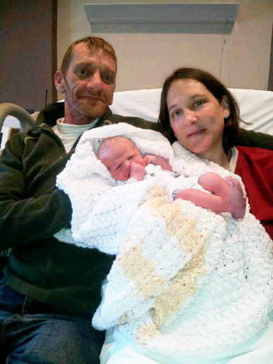 7 Pound 11 Ounce Tanner Berger-McIntosh First Baby Born in Cornwall Ontario for 2013!