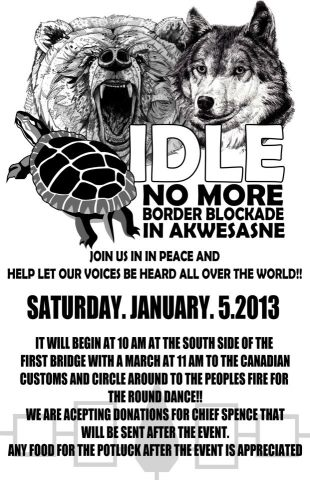 idle no more akwesasne