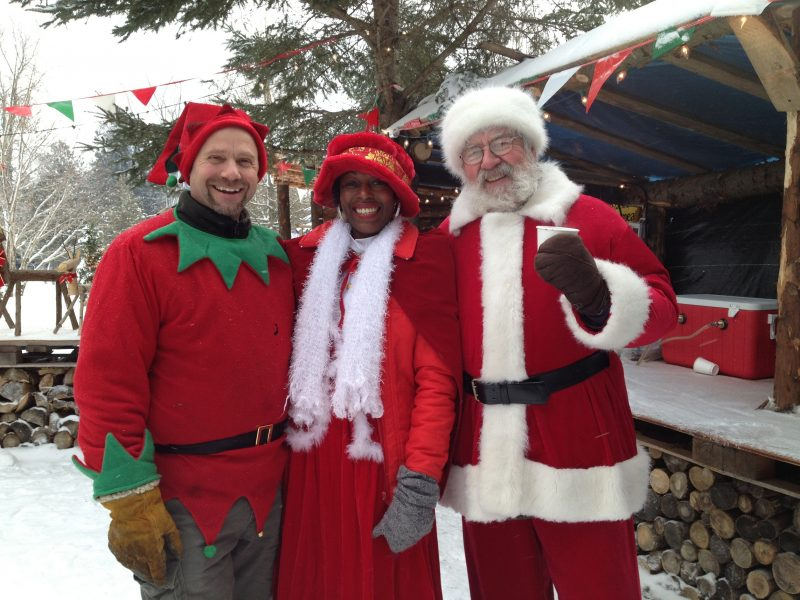 Santa's head Elf, Mrs.Claus and Santa himself!