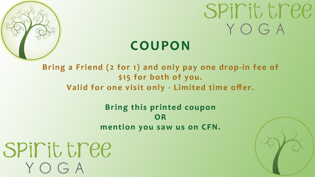 Spirit Tree Yoga Cornwall Ontario Coupon