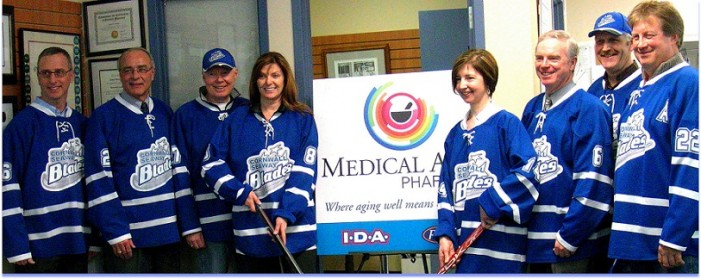 Medical Arts Pharmacy Sponsor 55+ Cornwall Seaway Blades Hockey Team – February 14, 2013