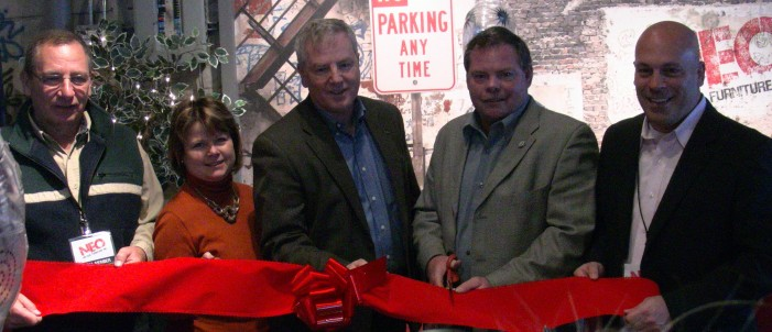 MPP Jim McDonell join Mayor & Deputy Mayor of South Stormont at Opening of Neo Vintage Furniture !