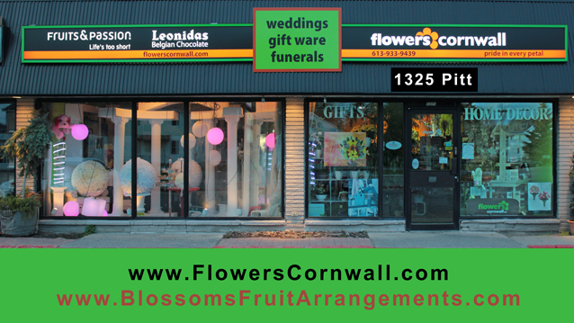 Flowers Cornwall ( Ontario ) & Edible Blossoms for your Valentines needs