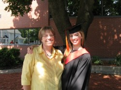 Alison at her daughter Joanne's graduation in 2008