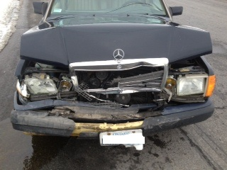 Fitzy & I in Car Wreck – My Wheels are Totaled in 3 Car Smash on 2nd Street East – February 13, 2013