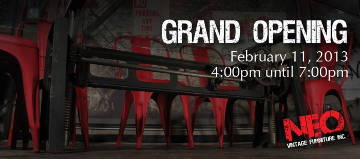 Neo Vintage Furniture GRAND OPENING February 11,2013 in Cornwall Ontario  CLICK FOR DETAILS