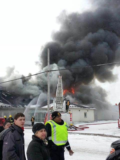 BREAKING – FIRE strikes St. Albert Cheese Factory in St. Albert Ontario