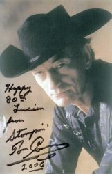 Smokey received this card from Stompin' Tom on his 80th birthday