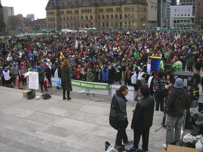 Nearly 11,000 People Set New Record At 420 Ottawa Fill The Hill 2013 by Russell Barth