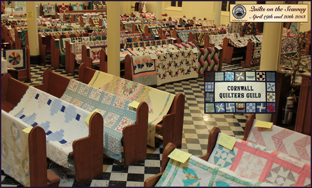 Celebration of 20 Years of Quilting in Cornwall Ontario a huge success – news & video!