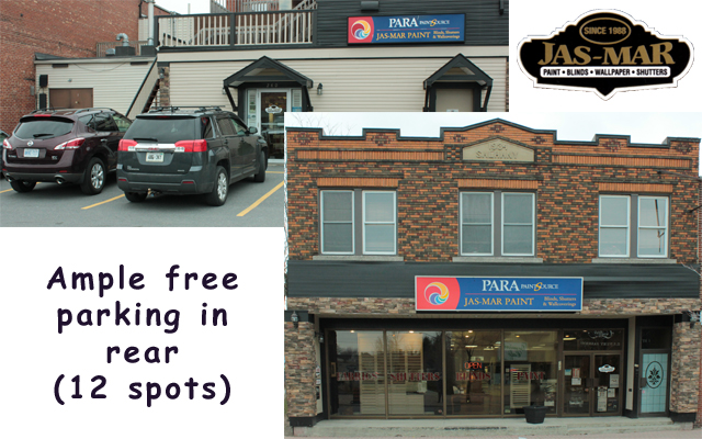 Jas-Mar: Cornwall Ontario's family-owned specialty paint, window blinds & shutter dealer for 25 years