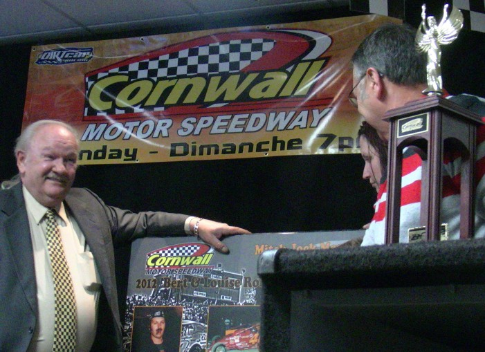 Cornwall Motor Speedway Celebrates their 2012 Winners!   VIDEO – April 10, 2013