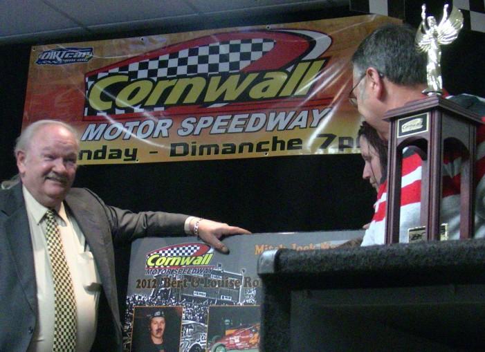 Cornwall Motor Speedway Celebrates their 2012 Winners!   VIDEO – April 10, 2013