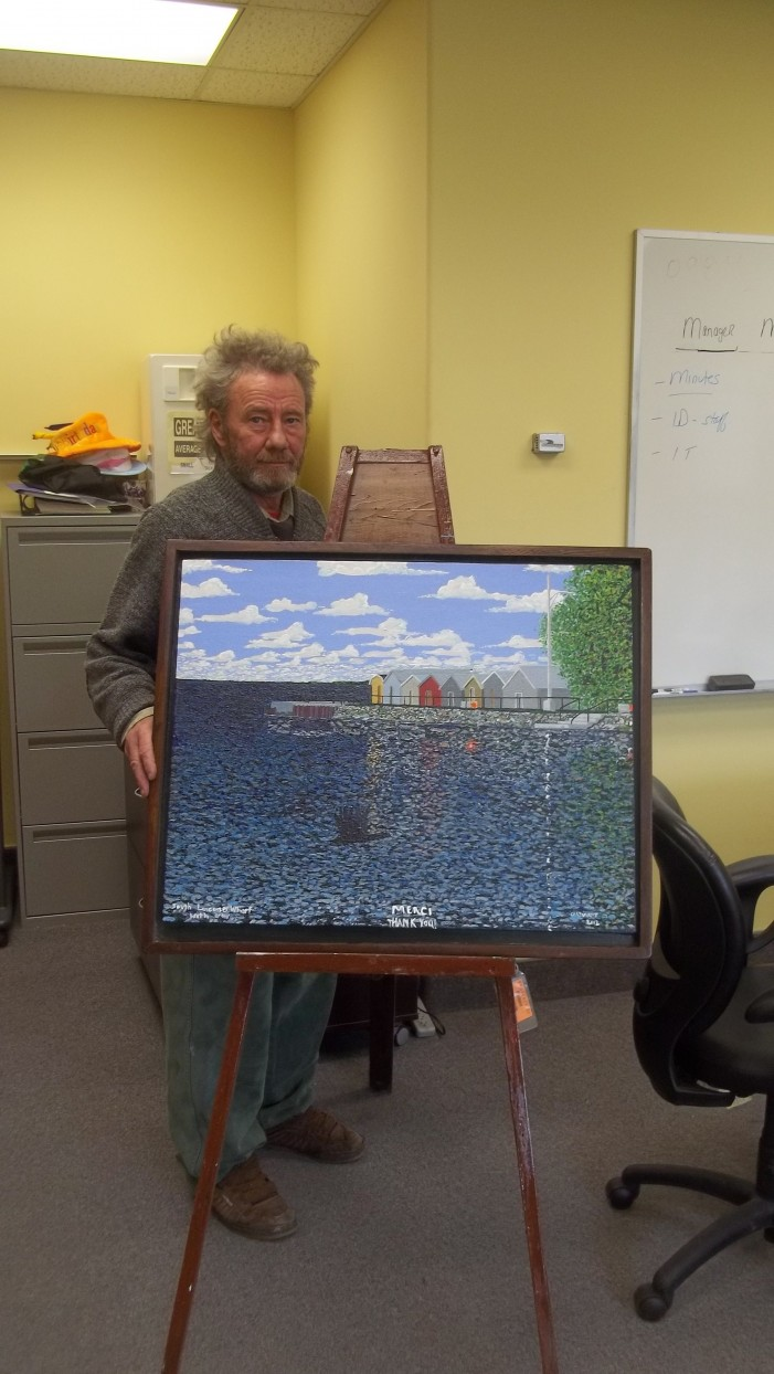 Artist Michael Cartwright Gives Back to Glengarry Memorial Hospital After Recovering From Stroke.