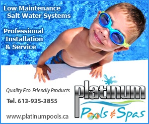 Visit Mike Bedard of Platinum Pools at the 2013 Cornwall & Area Chamber of Commerce Spring Home & Trade show!  April 12-14