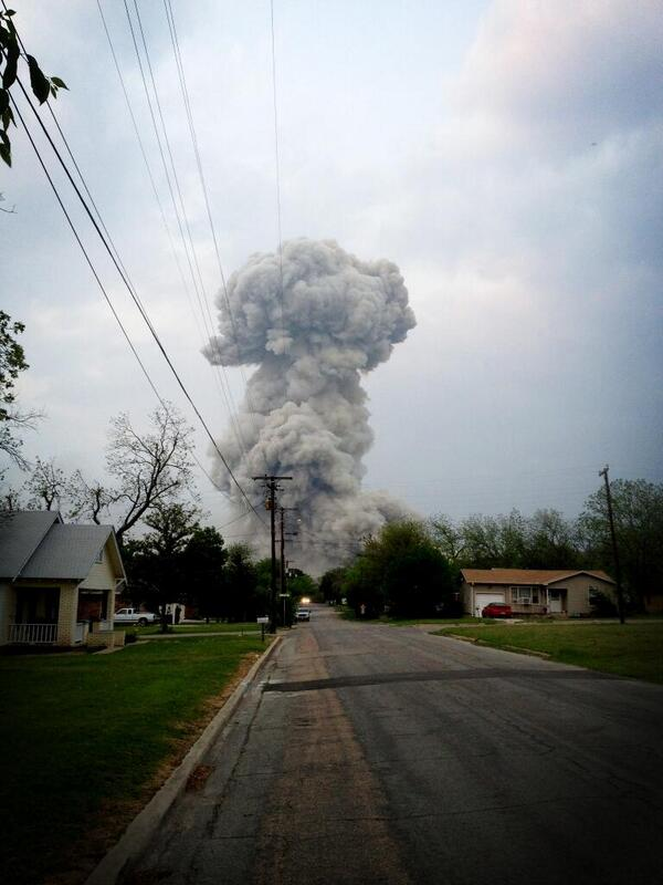 Massive Explosion at Fertilizer Plant in Waco Texas – 15 Dead – Hundreds Injured – April 18, 2013