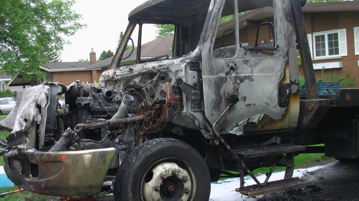 City Towing & Recovery Has Truck Burnt for Second Time in One Year – Tow Truck Wars in Cornwall Ontario?  May 20, 2013