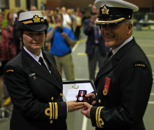 Sea Cadet Officer receives Diamond Jubilee Medal in Cornwall Ontario – report by Don Smith