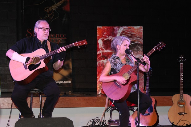 Roxanne Delage and Rod Robillard at St. Lawrence Acoustic Stage