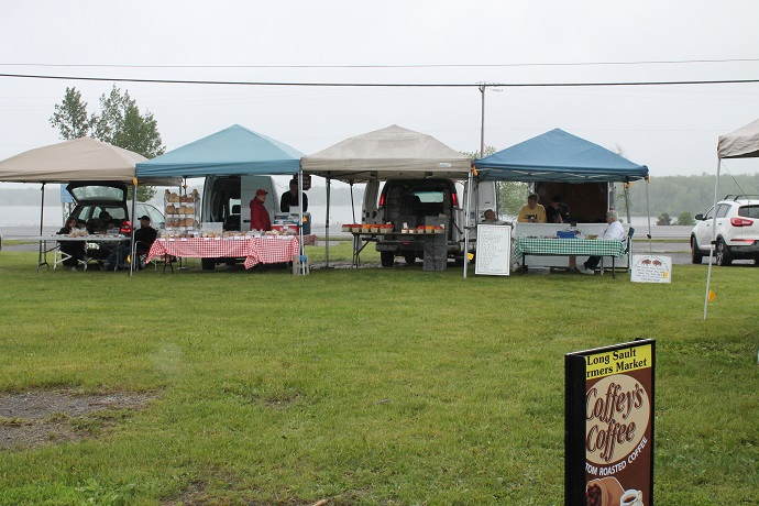 Opening Day for Long Sault Farmer's Market, 07 June 2013 by Reg Coffey