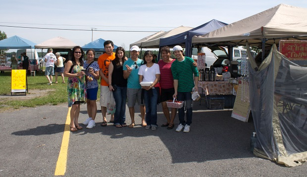 Perfect Day at Long Sault Farmer's Market by Reg Coffey July 13, 2013