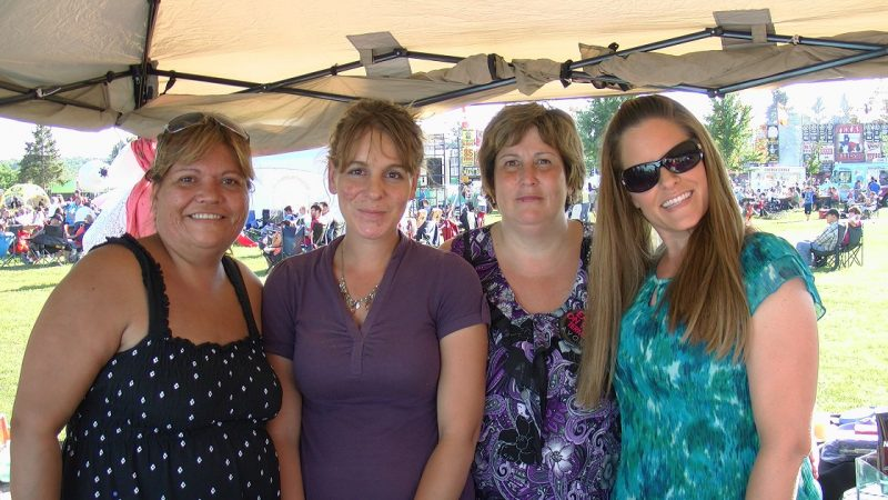 Up and coming Avon Leader Jennifer Shearer (in purple) with some of her team at Ribfest
