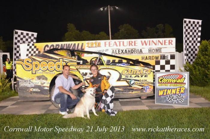 Chris Raabe dominates at Cornwall Motor Speedway!  by  Martin Bélanger – July 22, 2013