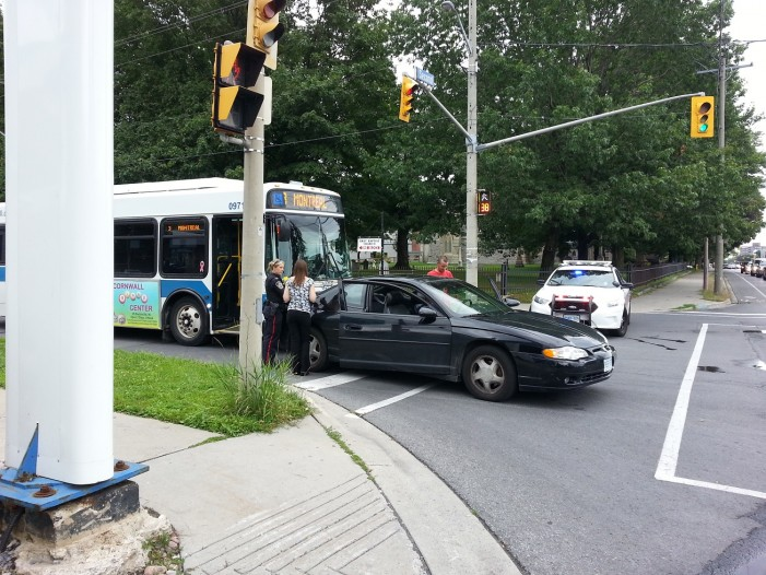 UPDATED – Another Bus Accident in Cornwall Ontario – Esther Paquette Charged –  York & Second Street – August 2, 2013
