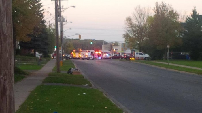 First Car Wreck in Front of the New Freshco in Cornwall Ontario – September 30, 2013