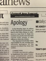 freeholder apology