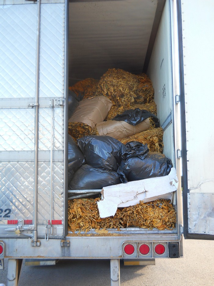 CRTF (CORNWALL REGIONAL TASK FORCE )NAB TRUCK OF LEAF TOBACCO – FRIDAY SEPTEMBER 13, 2013