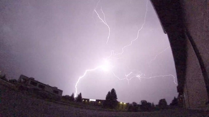 Nathanael Newton of Cornwall Ontario Catches Huge Lighting Storm on Camera VIDEO Sept 2, 2013