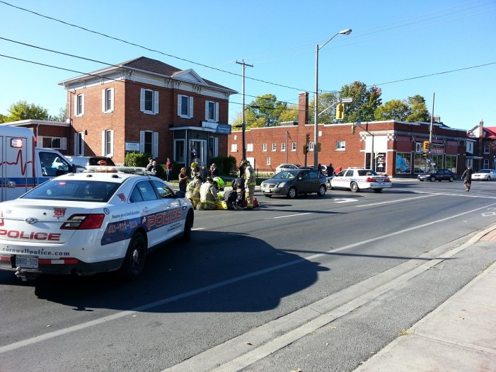 70 Year Old Struck Down on 2nd Street West by Driver in Cornwall Ontario Sept 25, 2013