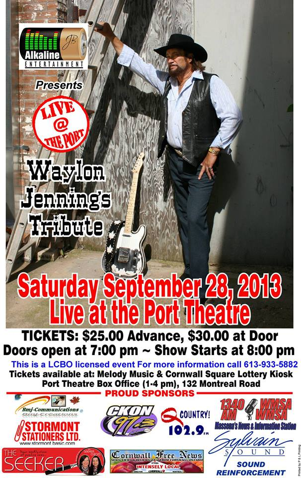 Hot Music at The Port Theatre in Cornwall Ontario September 27 & 28 ELO & Waylon Jennings Tributes!