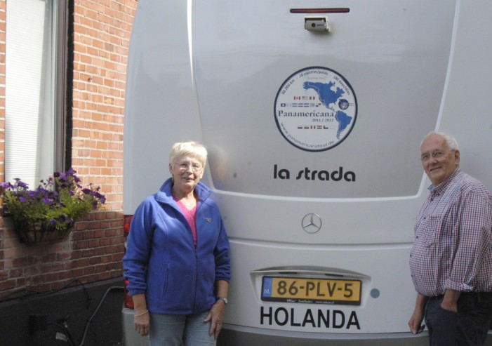 Holland's Roel & Marga Nuberg Stop in Cornwall Ontario on their Pan American Highway Journey!