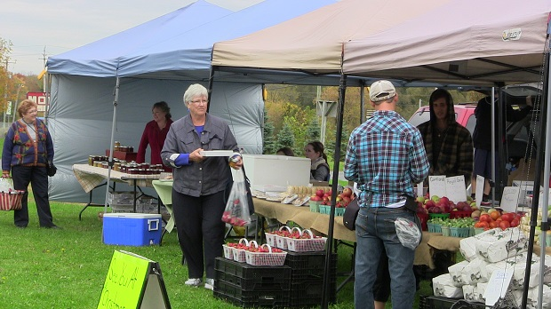 Second Last Week for the Season at the Long Sault Farmer's Market by Reg Coffey – October 04, 2013