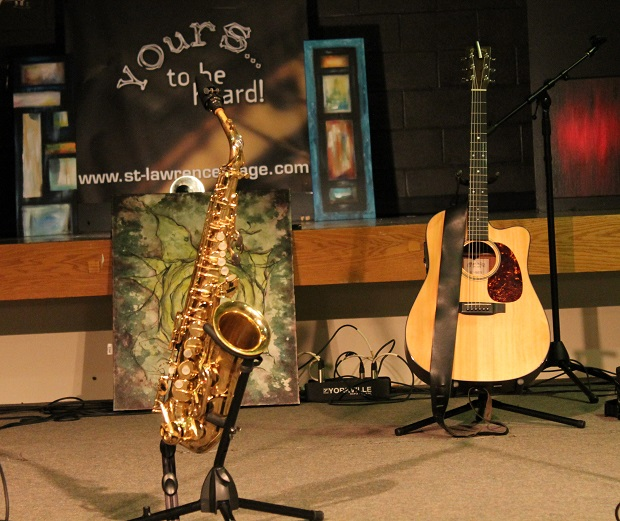 Ian & Coco Roll Into Morrisburg at the St. Lawrence Acoustic Stage on 5 October 2013 by Reg Coffey