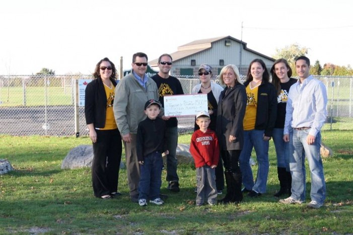 South Stormont Splash Pad Picks Up $3,000 Donation Thanks to Scotiabank & Seaway Roller Derby Girls – October 16, 2013