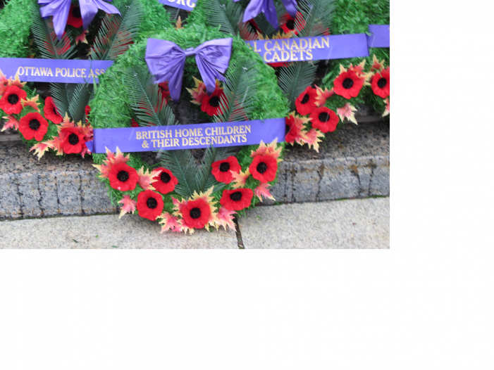 Laying Wreath Honouring British Home Children in Ottawa a Humbling Experience by Gloria F. Tubman
