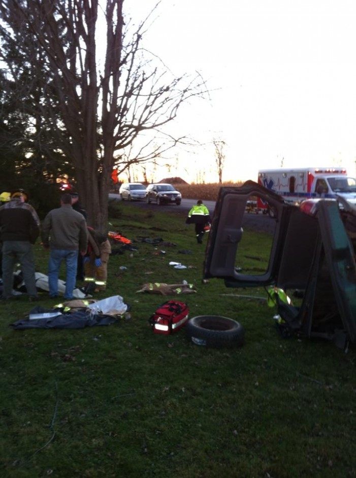 Ford Explorer Roll Over on Glen Road in Summerstown Ontario Sends Man to Hospital – Nov 3, 2013