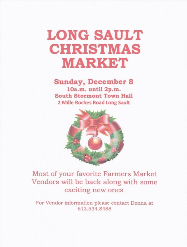 Long Sault Farmers Christmas Market Reduced
