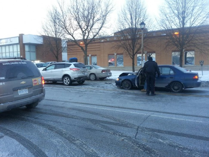 2 Car Crash in Front of Court House in Cornwall Ontario –  Nowhere near Freshcos! Tuesday January 28, 2014