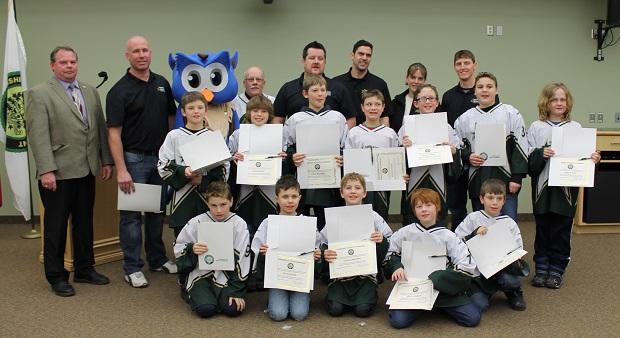South Stormont Honours Atom B Select Hockey Team by Reg Coffey