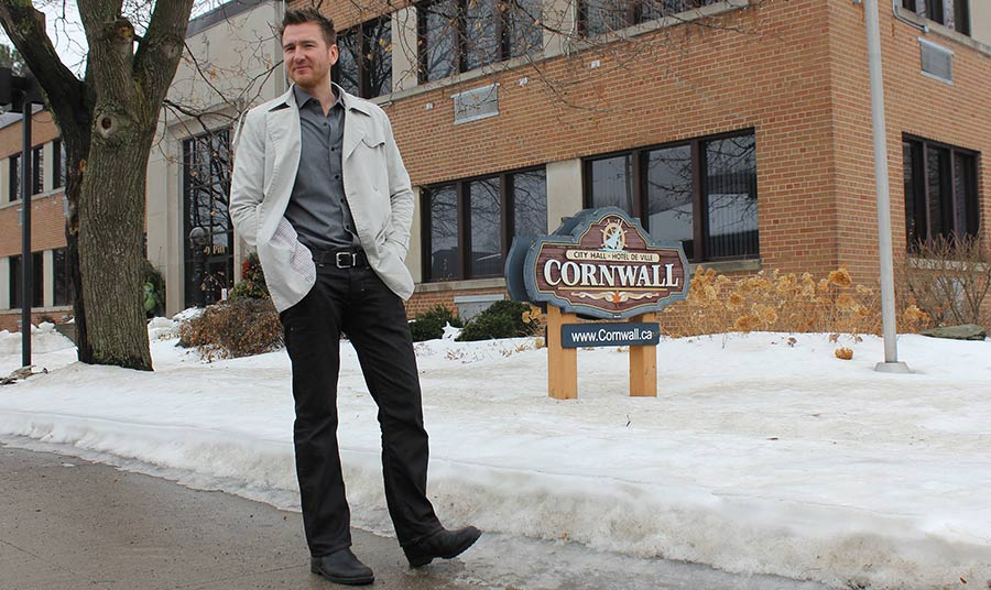 Brock Frost Talks Platform to Kick Off Campaign for Council Chair in Cornwall Ontario