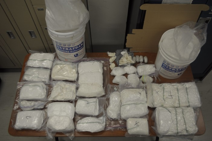 Toronto Police Service Nab 25 kgs of Cocaine & 24 Kilos of Phenacetin – Four Nabbed in Drug Bust – Jan 27, 2014  TPS