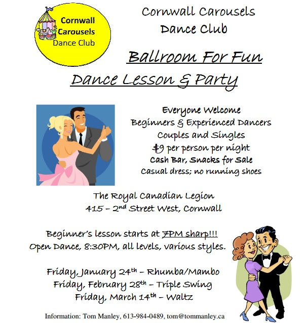 Ballroom For Fun Dance Lesson & Party CLICK FOR DATES & DETAILS!