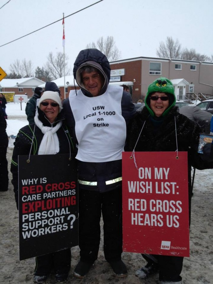 Arbitration Win for Red Cross PSW After Christmas Strike in Ontario – Jan 10, 2014  SEIU