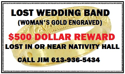 Wedding Ring Lost in Cornwall Ontario – $500 Reward CLICK FOR DETAILS