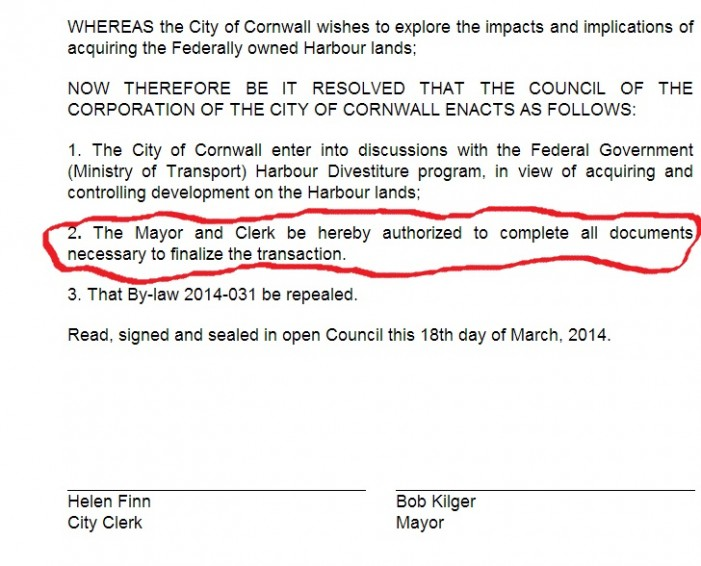 Is Mayor Kilger Soaking Cornwall Ontario in Secret Waterfront Negotiations? MEETING 8PM March 18, 2014